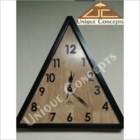 Triangle Wooden Wall Clock