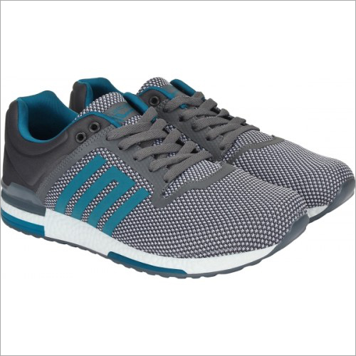 Mens Grey & Green Calcetto Pacific Running Shoes