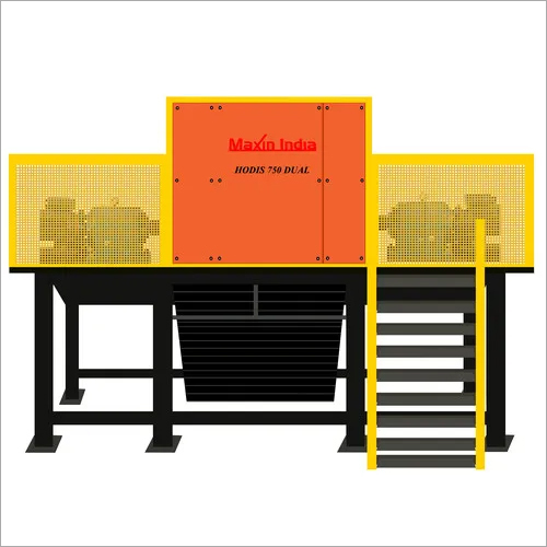 Double Shaft Wood Shredder, Production Capacity: Upto 6 Ton, Model Name/Number: Maxin India Hodis 1000 Dual AD