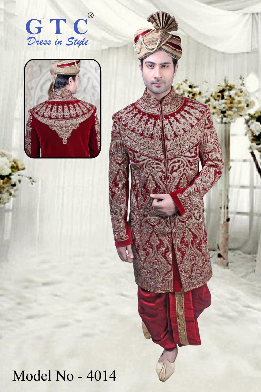4014 Exclusive Wedding Sherwani