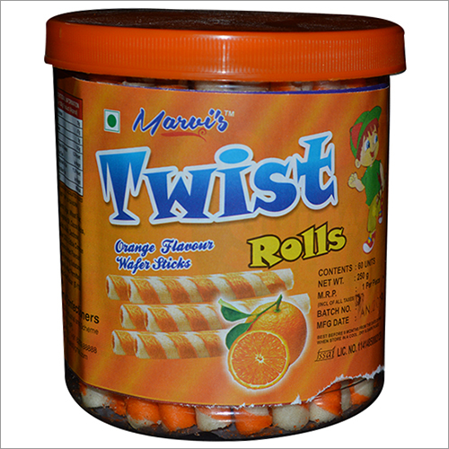 Orange Flavour Wafer Stick