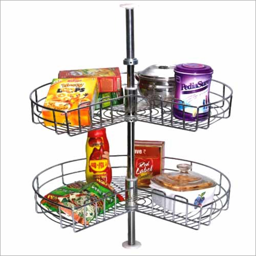 SS Carousel Kitchen Basket