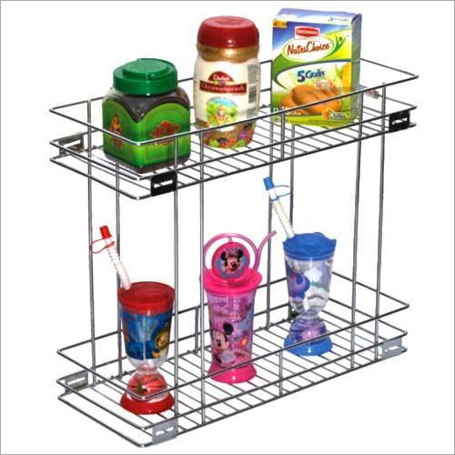 Stainless Steel Double Pull Out Basket