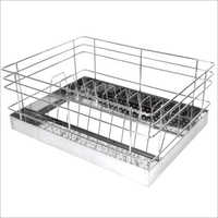Perforated SS Kitchen Thali Basket