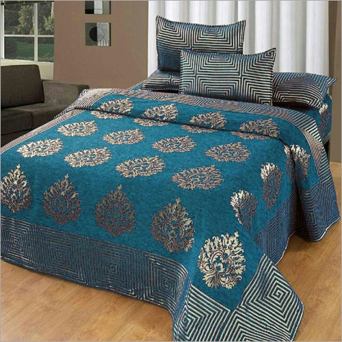 Chenille Printed Bed Sheet