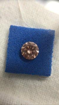 Cvd Diamond 1.006ct orange pink SI1 Round Brilliant Cut Lab Grown HPHT Loose Stones TCW 1