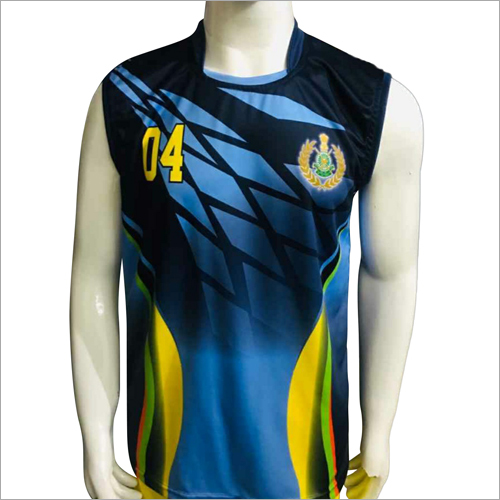 Mens Sleeveless Printed Sports T-Shirt