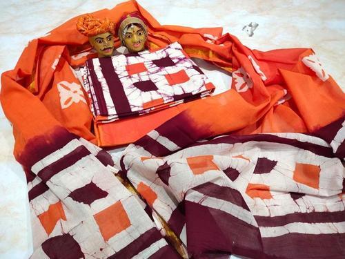 Cotton Suit Gold Zari Duppatta