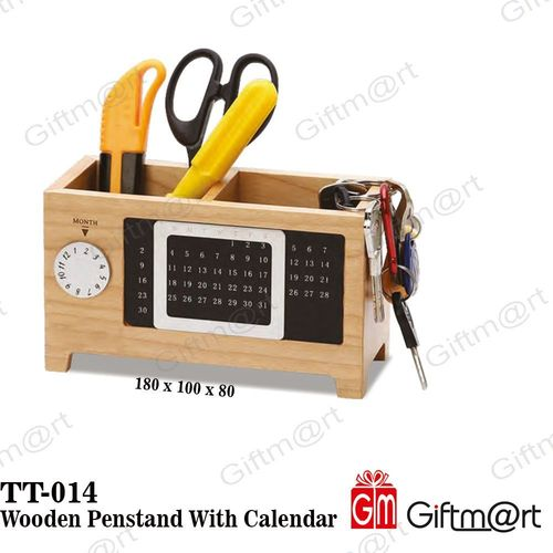 Wooden Penstand With Calendar