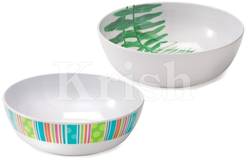 Round Melamine Serving Bowl