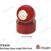 Ball Shape Paper weight With Clock