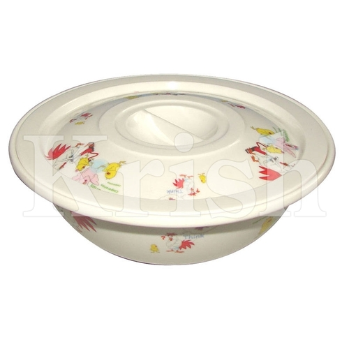Round Serving Bowl with Cover