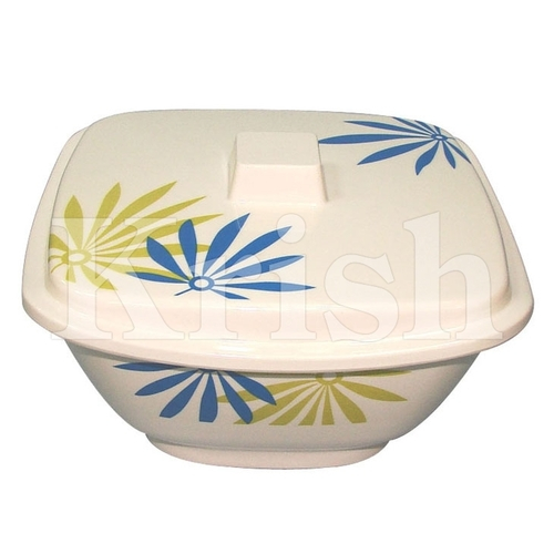 Square Serving Bowl with Cover