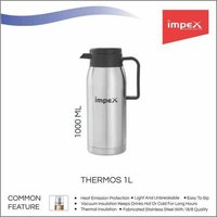Impex THERMOS-1L Thermosteel Vacuum Flask (1000 ml,Silver)