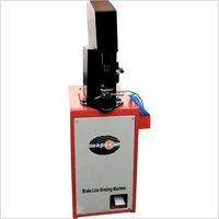 Pneumatic brake shoe line riveting machine