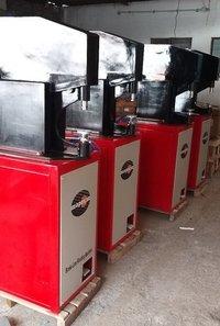 Pneumatic brake shoe line riveting machine