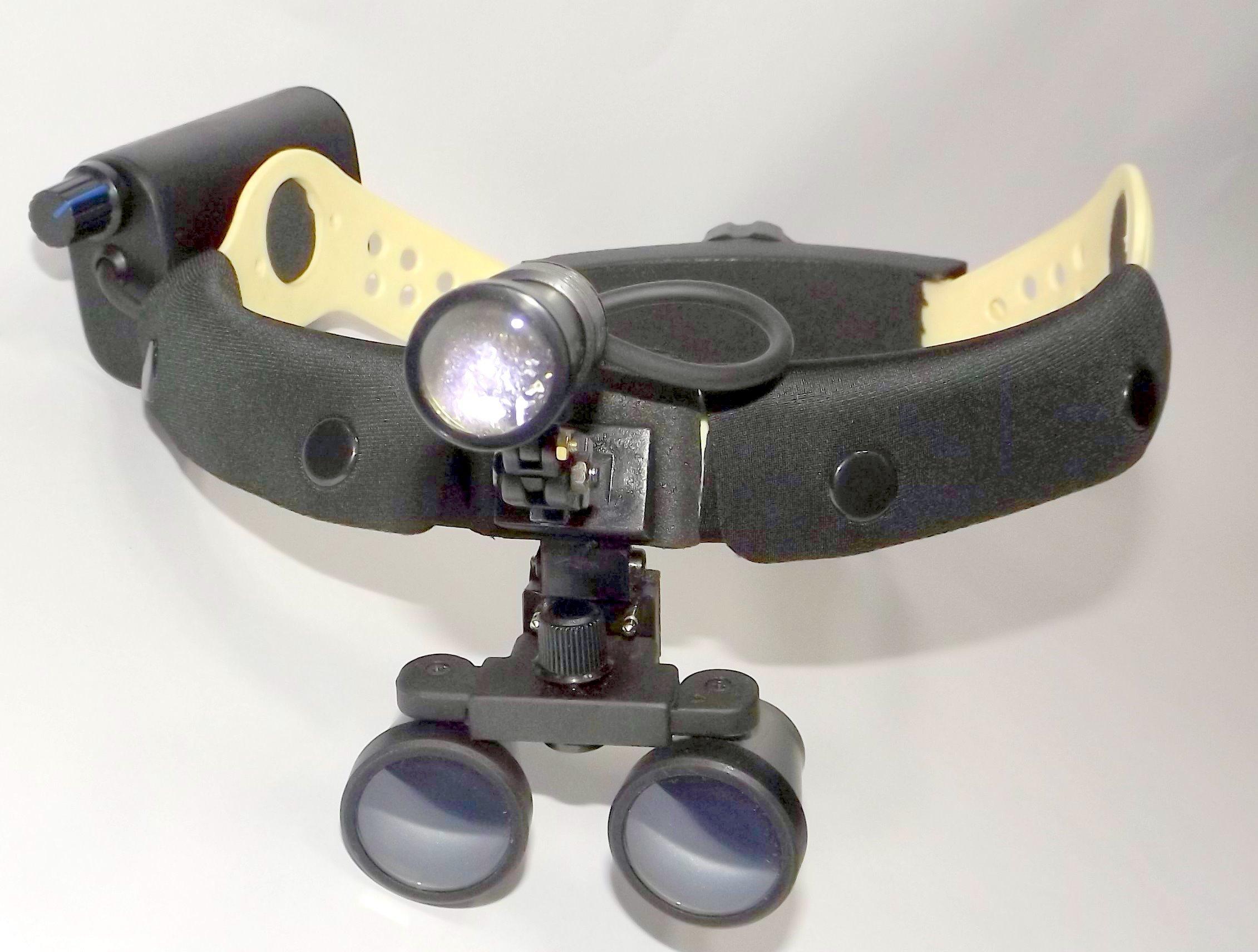 Binocular Head Loupe with Headband Head Light