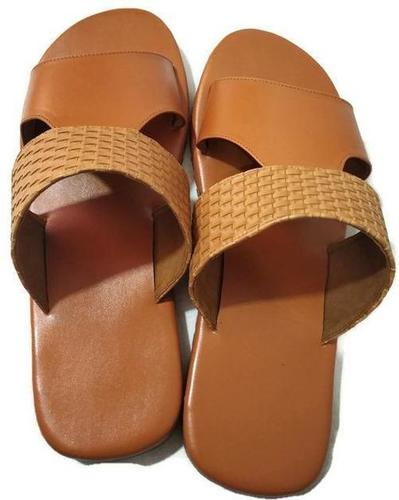 Men's Mustard Rubber Soft Slipper