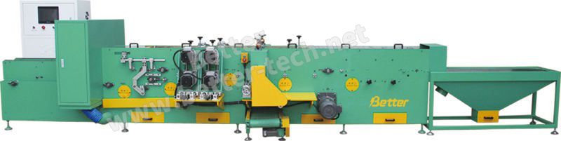 Plate parting and brushing machine(double panel)
