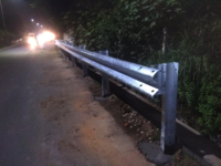 W-Beam double guard crash Barrier