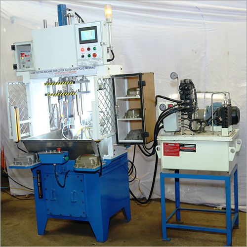Cover Clutch Leak Test With Plug Press Machine