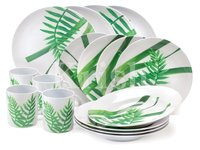 16 Pcs Melamine Dinner Set - Woodside