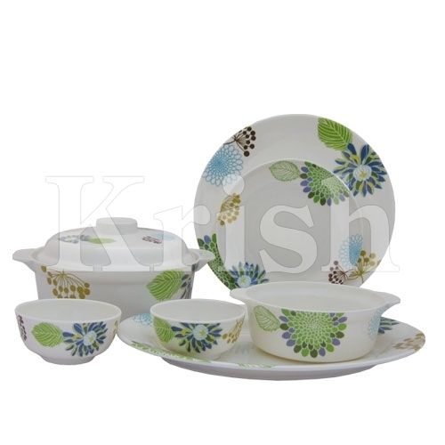 32 Pcs Round Family Set - Naturally Green