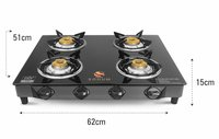 Four Burner PNG Gas Stove With Safety Device
