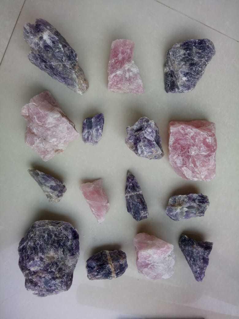 bulk crushed Rose Pink Quartz Stone aggregate