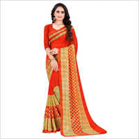 Daily Wear Poly Printed Georgette Saree