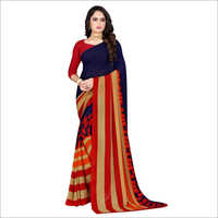 Ladies Daily Wear Poly Georgette Saree