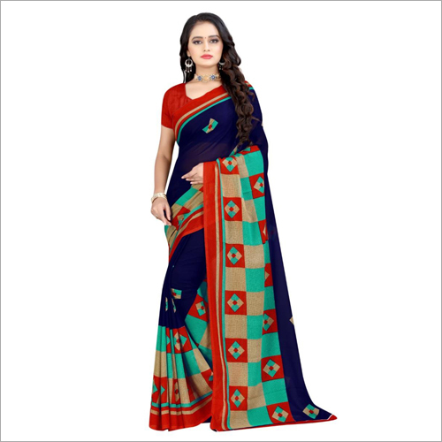 Ladies Fashionable Poly Georgette Saree