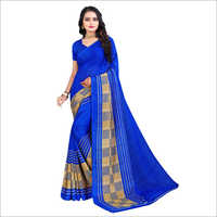 Fancy Poly Georgette Saree