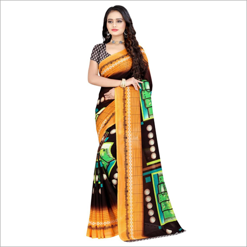 Light Weight Poly Georgette Saree