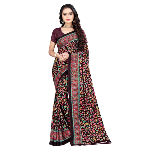 Ladies Designer Poly Georgette Saree