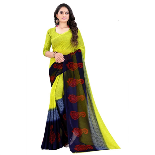 Modern Poly Georgette Saree
