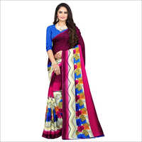 Fashionable Printed Poly Georgette Saree