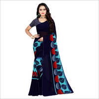 Ladies Stylish Poly Georgette Saree