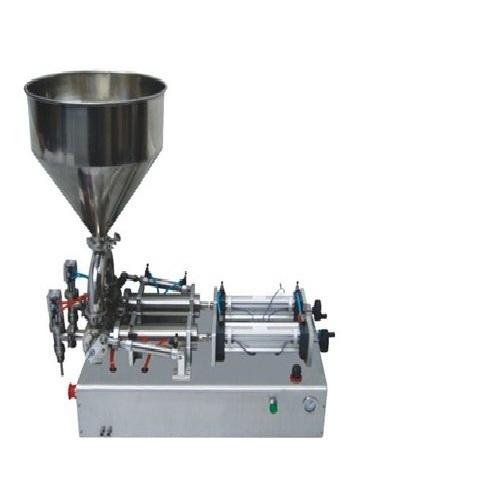 Semi-Automatic 5 Ml To 100 Ml Liquid & Paste Filling Machine Double Nozzle