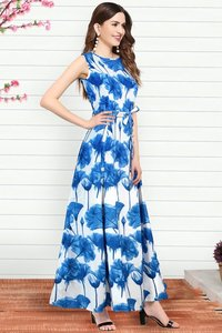 Parle blue gown