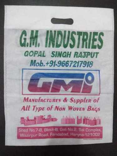 Red D Cut Non Woven Carry Bag
