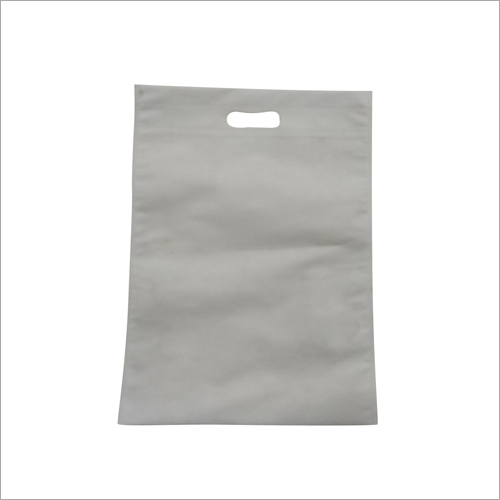 White D Cut Non Woven Carry Bag