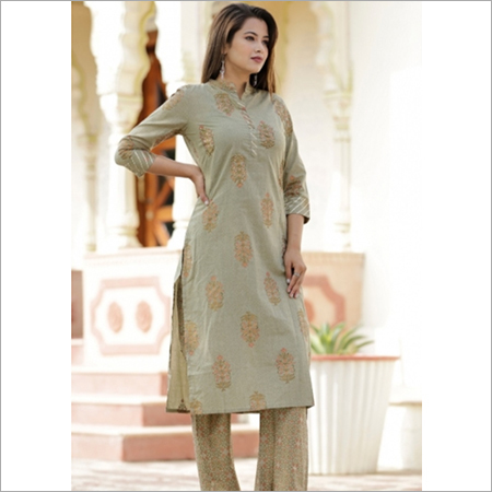 Light Kiwi Color Kurti