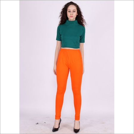 Orange Color Churidar Leggings