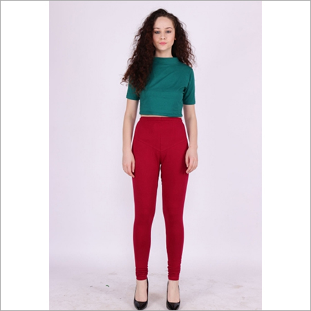 Burgundy Color Churidar Leggings