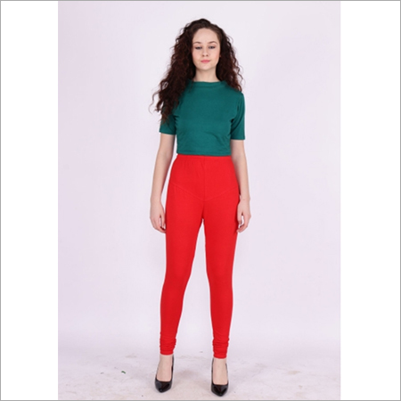Candy Apple Color Churidar Leggings