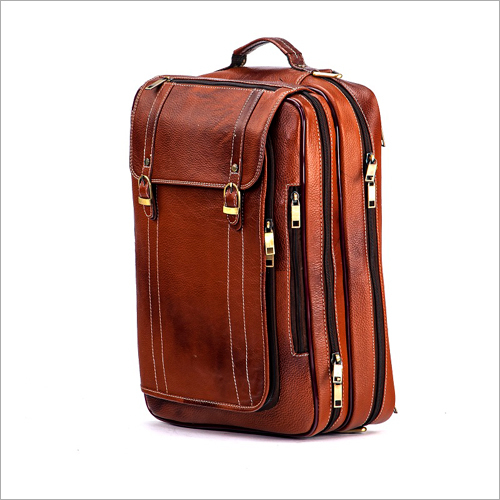 Mens Office Leather Backpack
