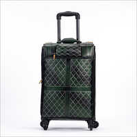 4 Tyre Leather Trolley Bag