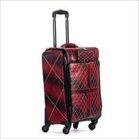 4 Tyre Pure Leather Trolley Bag