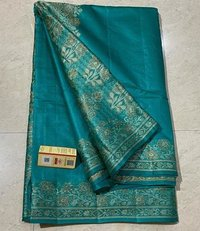 PURE TUSSAR SILK THREAD WEAVED BORDER ,PALLU AND BLOUSE.